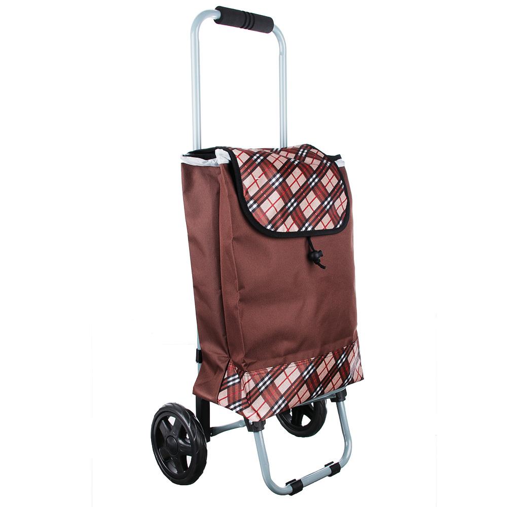 Тележка + сумка, грузоподъемность до 15кг, брезент, ЭВА, 36х26х86см, колесо d15см, HT-196-A