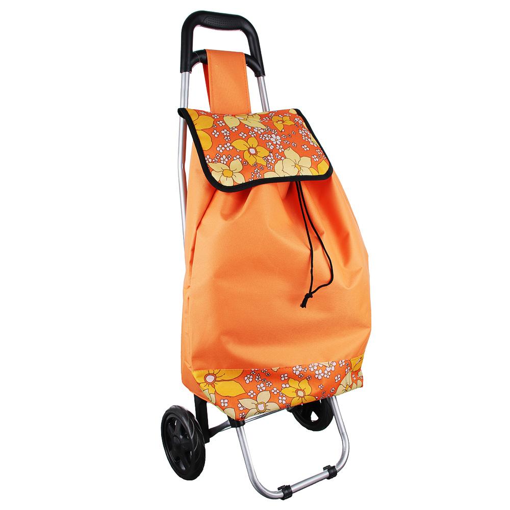 Тележка + сумка, грузоподъемность до 30кг, брезент, ЭВА, 36х26х94см, колесо d15см, WQ-111