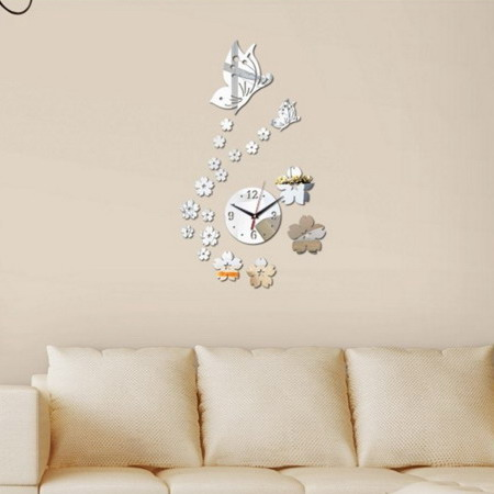 Настенные часы  T4126 бабочка