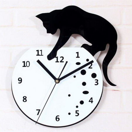 Настенные часы  T5078 кот