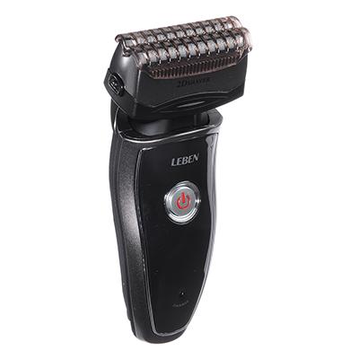 LEBEN Бритва аккумуляторная 3Вт с триммером для усов, 2 головки, сеточная система бритья, IW-5100