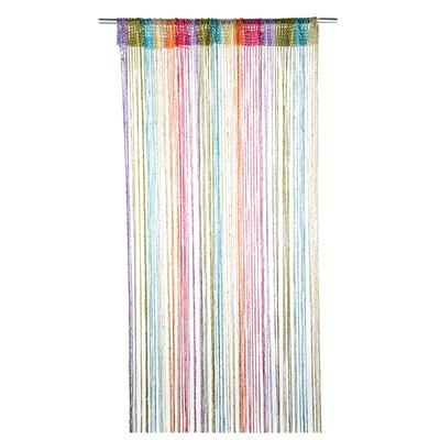 Занавеска нитяная с блестками, разноцветная, полиэстер, 1х2м, 5 цветов