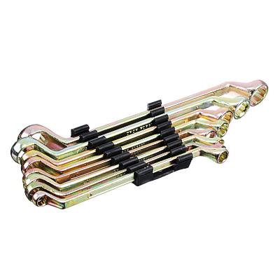 ЕРМАК Набор ключей накидных, 8 предм., 8x10 - 19x22мм, желтый цинк, пластик холдер