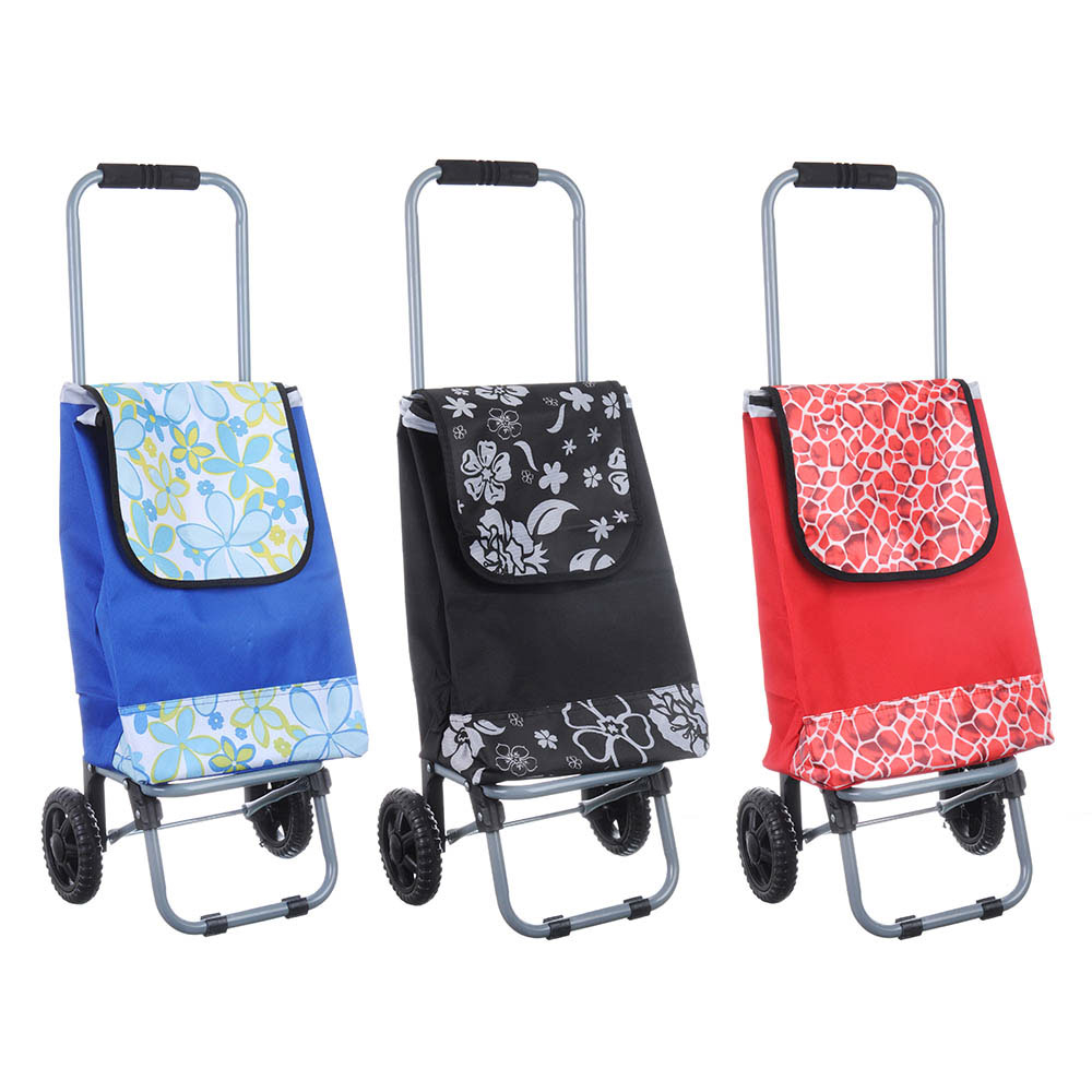 Тележка + сумка, грузоподъемность до 20кг,34х26х86см, колесо d15см, полиэстер, металл, 3 диз.