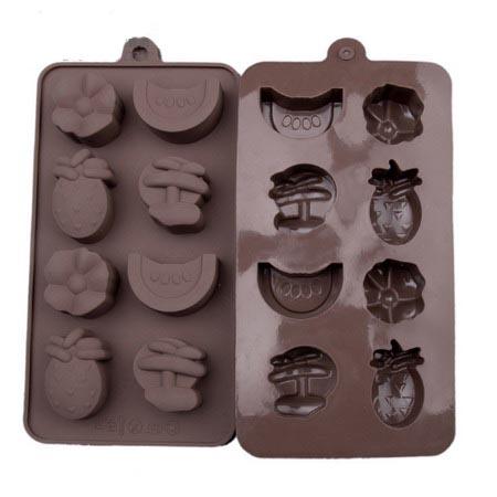 Формочки для шоколада: фрукты