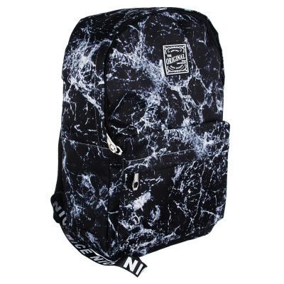 Рюкзак подростковый 45x32x15см, 1 отд, 3 кармана, нейлон, серый с рисунком