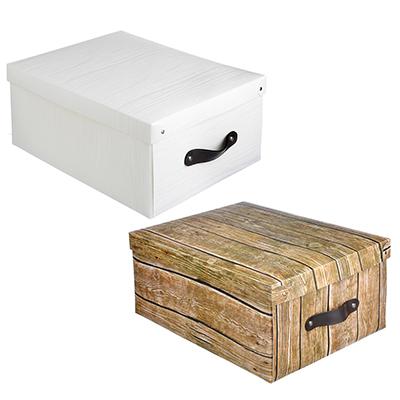 VETTA Короб для хранения складной с ручкой, 37,5х28х15см, пластик, 3 дизайна