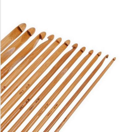Набор крючков для вязания из бамбука 12 шт