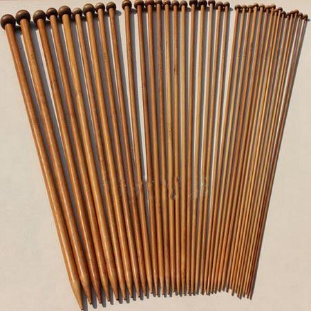 Спицы для вязания из бамбука 18 шт