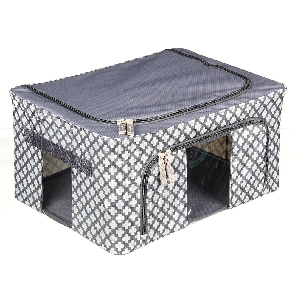 VETTA Короб жесткий для хранения вещей на молнии, 22л, полиэстер, металл, 39х29х20см, 2 дизайна