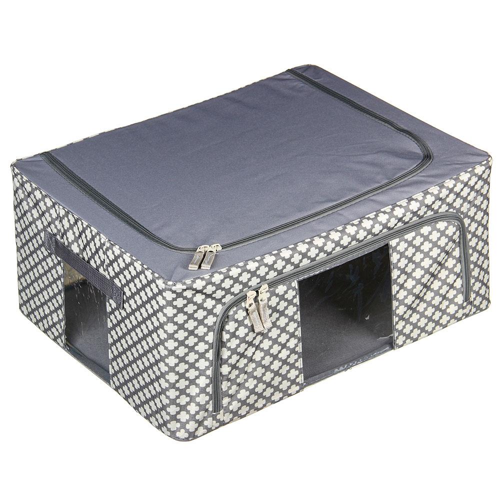 VETTA Короб жесткий для хранения вещей на молнии, 44л, полиэстер, металл, 50х40х22см, 2 дизайна