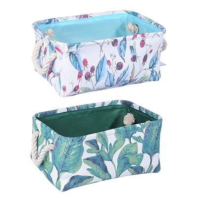 VETTA Корзина для хранения, Цветущий сад, полиэстер, 31х22х14см, 2 дизайна