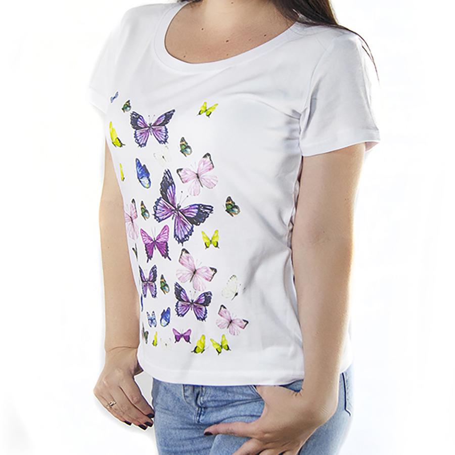 Футболка женская с принтом бабочки