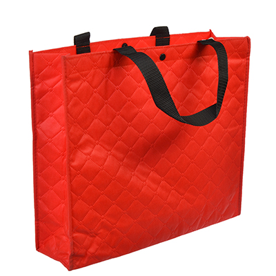 Сумка хозяйственная трехслойная, полипропилен, 34х40х12,5см, красная