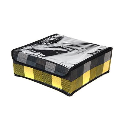 VETTA Кофр для хранения мелочей Клетка с прозрачной крышкой 16 ячеек 32x32x12см, спанбонд