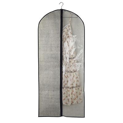 VETTA Чехол для одежды с прозрачным окном, 60х138см, искусственный лен, полиэтилен