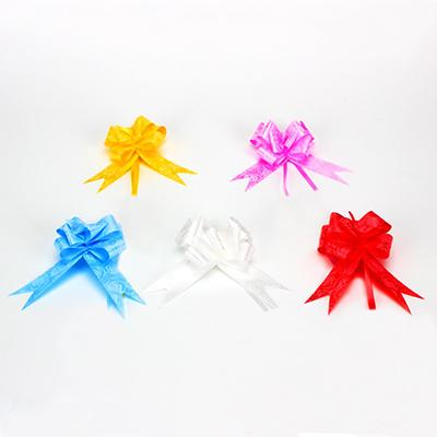 Набор бантов в форме бабочки 3шт, ПЭТ, 3x50см, 5 цветов, арт.019
