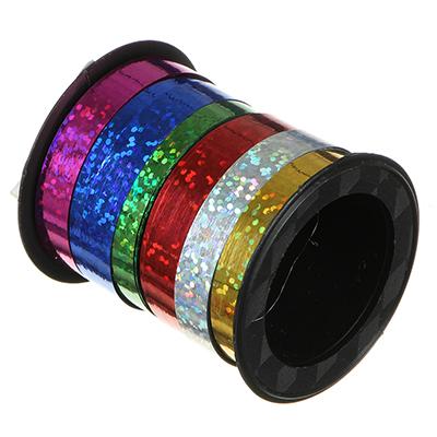 Лента подарочная голография разноцветная, 0,7 см х18 м