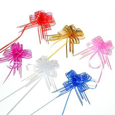 Набор бантов подарочных в полоску, 3 шт, 3х48 см, 6 цветов