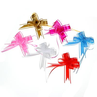 Набор бантов подарочных, 3 шт, прозрачные полоски, 3х48 см, 6 цветов