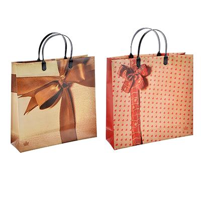Пакет подарочный, мягкий пластик, 300х300х0,140, 2 дизайна, артикул 5
