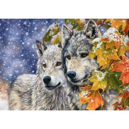 Алмазная вышивка (мозаика) Волки
