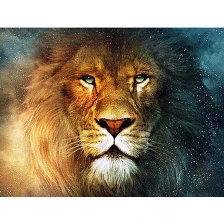 Алмазная вышивка (живопись) Лев