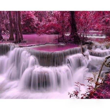 Алмазная вышивка  Водопад 5443
