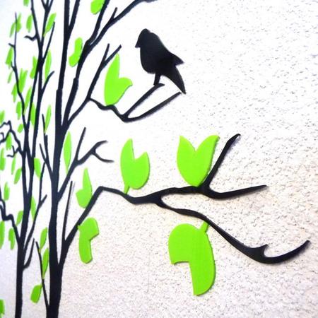 3D наклейка на стену Дерево 2,5 * 1,3 м