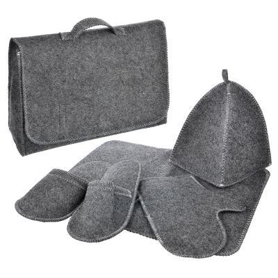 Набор банный Портфель, 5 пр. без вышивки, 30% шерсть,70% полиэфир, 2 цвета