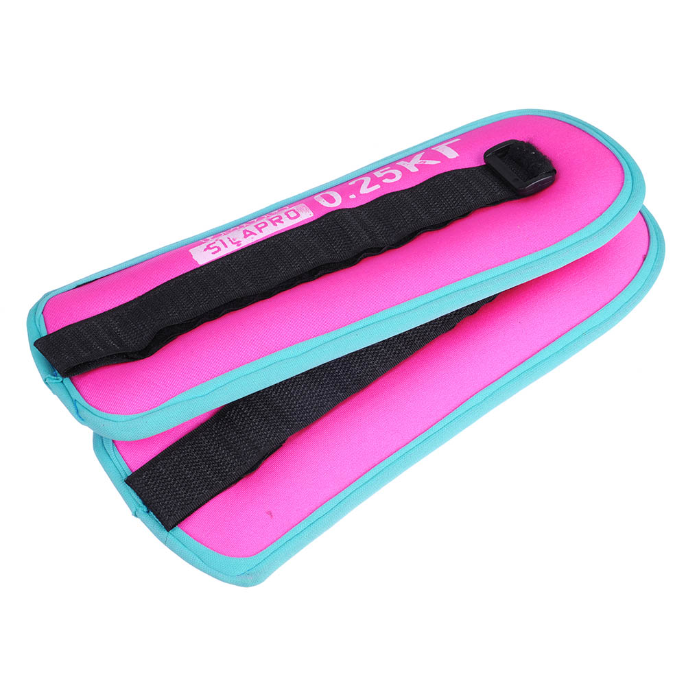 SILAPRO Набор утяжелителей для рук и ног текстильный, вес 0,5кг, 2шт х 0,25кг